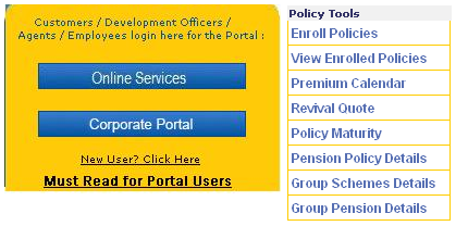 Check lic policy due date online