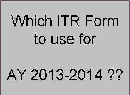 which-itr-form-to-use