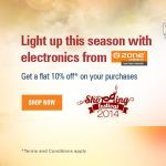 10% off at Ezone with ICICI Net Banking