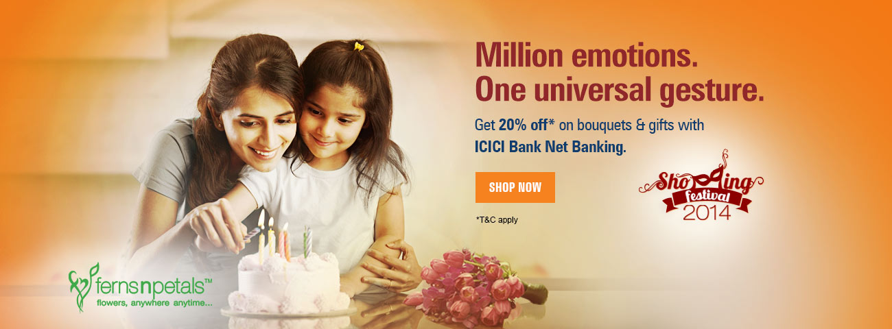 Icici ferns and petals discount coupon