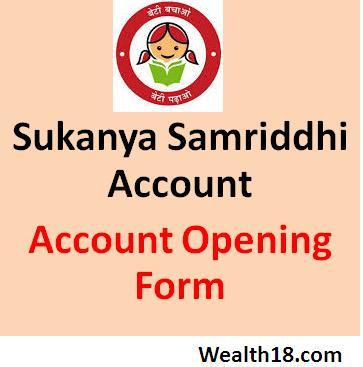 Sukanya Samriddhi Account Application Form Download