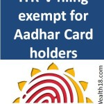ITR V hard copy physical filing is not required for Aadhar Card holders