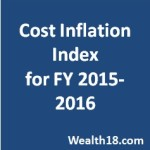 CBDT notifies Cost Inflation Index for FY 2015-16 (AY 2016-2017)