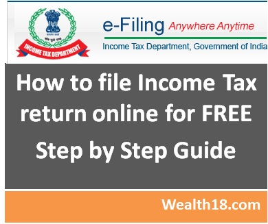 How To File Income Tax Return Itr Online Step By Step