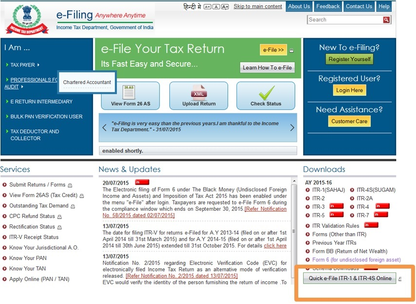 10 Easy Steps to File ITR 1 Online