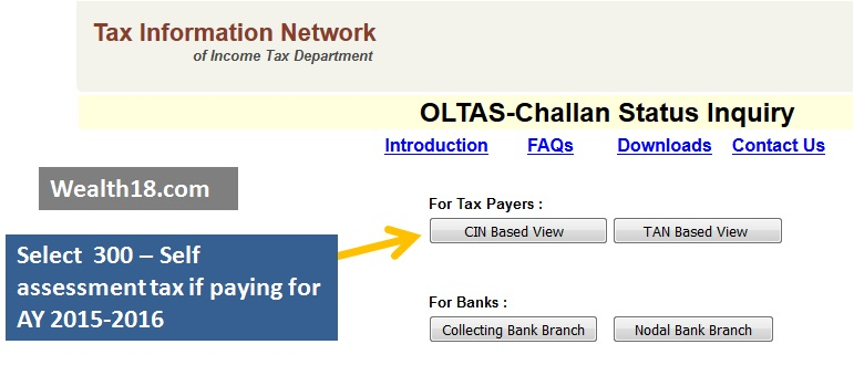 How to pay balance Income Tax online – Wealth18 com