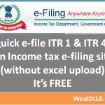 How to quick e-file ITR 1 & ITR 4S online – Step by step guide