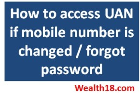 [How to] access UAN when mobile number changed