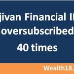 Ujjivan Financial IPO oversubscibed 40 times