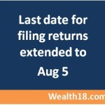 Last date for filing returns for FY 2015-2016 (AY 2016-2017) extended to Aug 5