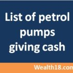 List of petrol pumps giving Cash