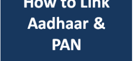 How to Link Aadhaar number with PAN
