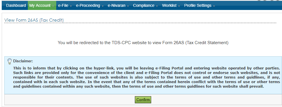 How to] View your Form 26AS online – Check Tax Credit