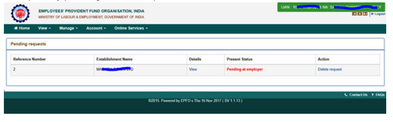 PF Name change form, Date of Birth, Address correction