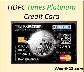 Hdfc Bank Platinum Times Credit Card Review Details
