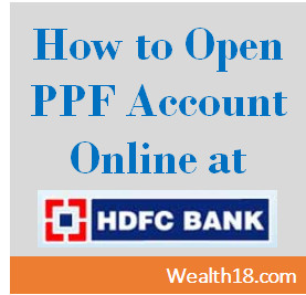 Hdfc Ppf Account How To Open Account Online Transfer