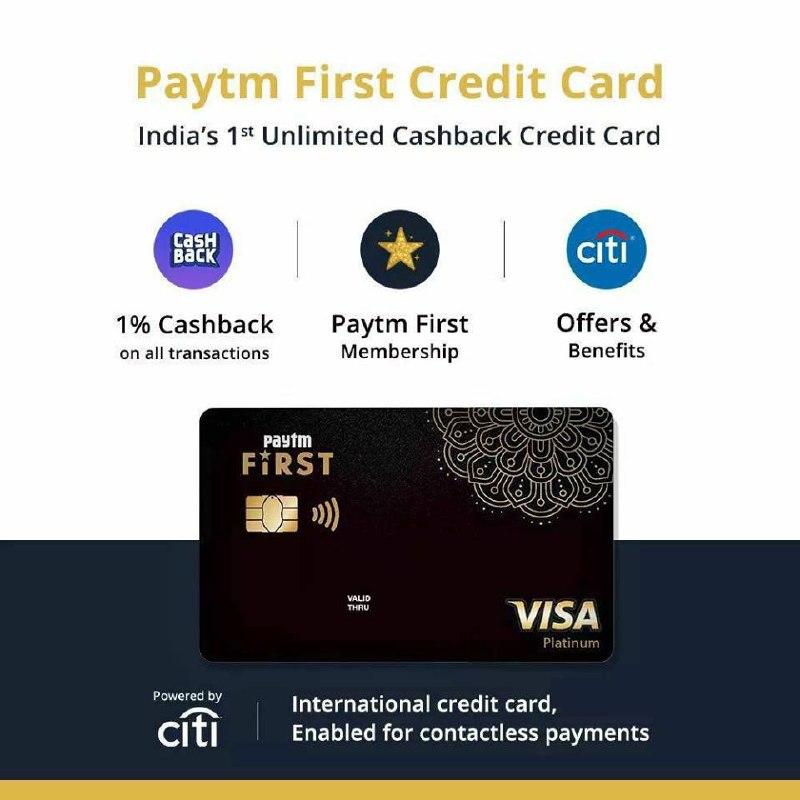 Paytm First Credit Card